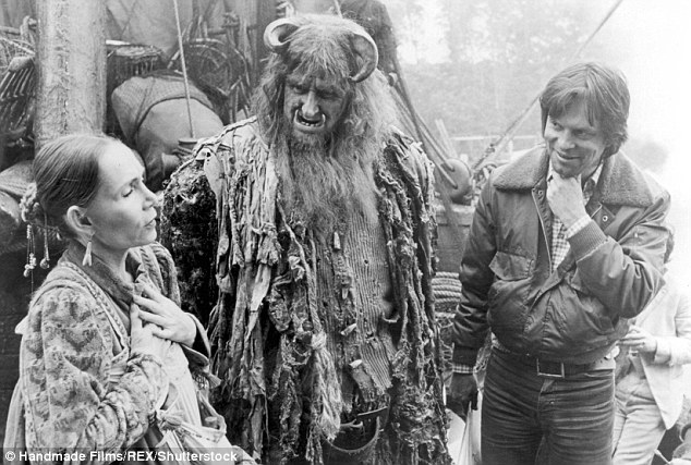 During his career, Vaughan worked alongside Sir Anthony Hopkins, Frank Sinatra and Ronnie Barker. He is pictured as Ogre, centre, in Time Bandits in 1981