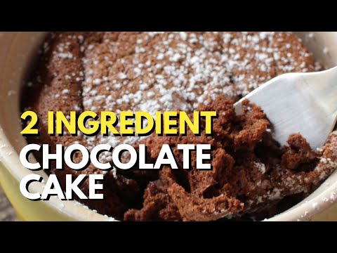 Two Ingredient Chocolate Cake For One