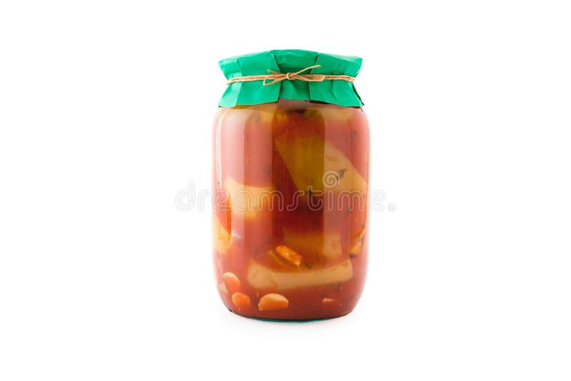 Homemade pickled peppers royalty free stock photo