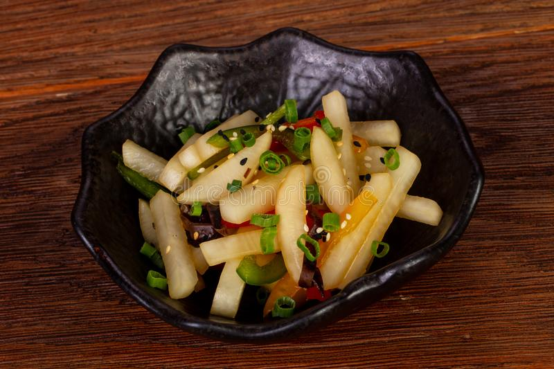 Japanese daikon salad royalty free stock photography
