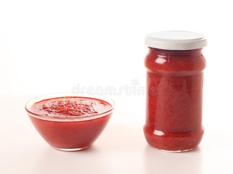 Tomato and cayenne sauce royalty free stock photography