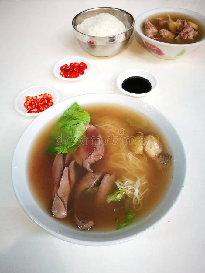Traditional Chinese Pork ribs and kidney soup royalty free stock photos
