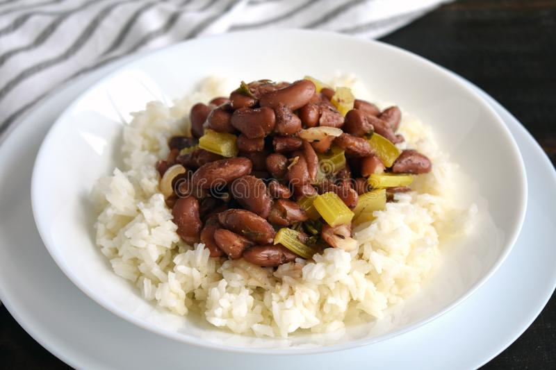 Creole Red Beans and Rice royalty free stock photo
